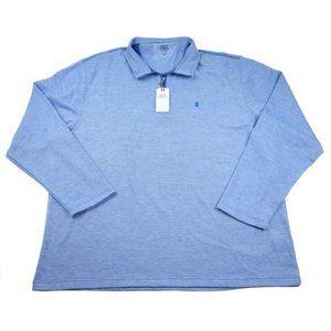 Izod Saltwater pullover light blue sweater sz M